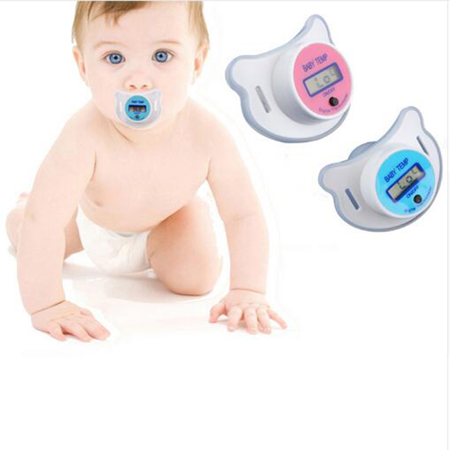 Baby Digital Nipple Thermometers LCD Medical Pacifier Mouth Temperature Silicone Children's Thermometer Baby Health Monitors