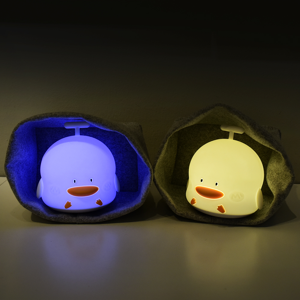 Musics duck Children Gift Comfortable silicone led night light