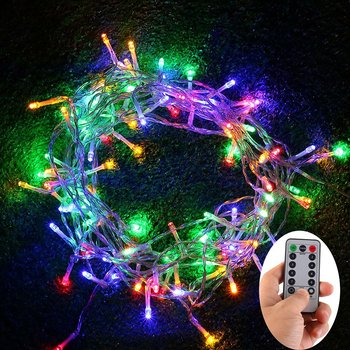 100 leds outdoor fairy string lights battery operated with remote timer dimmable 8