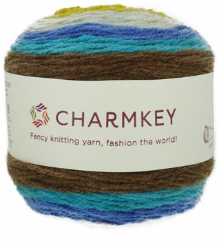 Charmkey soft fancy pattern acrylic wool cake yarn from Chinese supplier