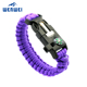 Factory direct sale Paracord Bracelet 5 in 1 Survival Gear Compass Fire Starter Emergency Knife & Whistle