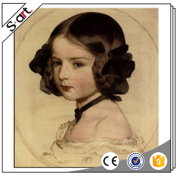 Customized competitive price classic women portrait oil painting