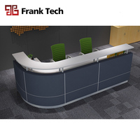 Frank Tech white painting counter design wooden front counter reception table l shaped salon reception counter