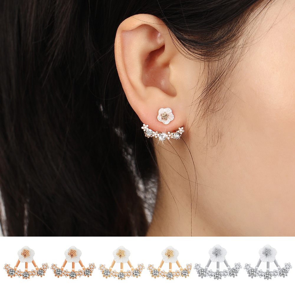 buy 2016 crystal stud earrings boucle d 39 oreille femme flower earrings for women. Black Bedroom Furniture Sets. Home Design Ideas