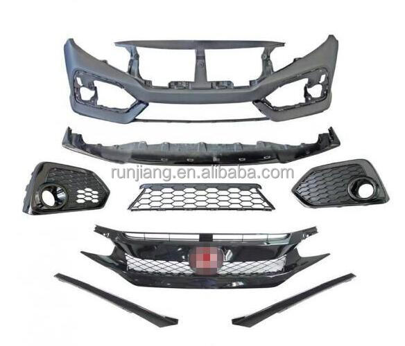 Hot sale !! Body Kits For Honda Civic 10th Gen With Type-R Grille and SI Front Bumper