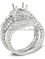 0.70 Carat (Ctw) 14k White Gold Round Diamond Semi Mount Engagement Bridal Rings