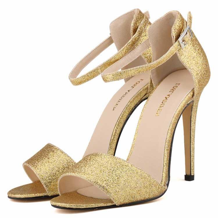 71f8fcbfa539e Cheap Gold Mid Heel Sandals
