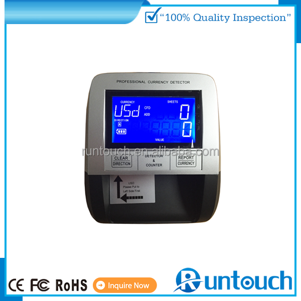 Runtouch vaccum counting machine,Bill Counters