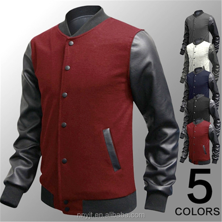 leather sleeve letterman jacket