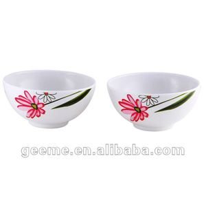 "Melamine wares: 4.5"" melamine bowl with the dacel of flower( best seller)"