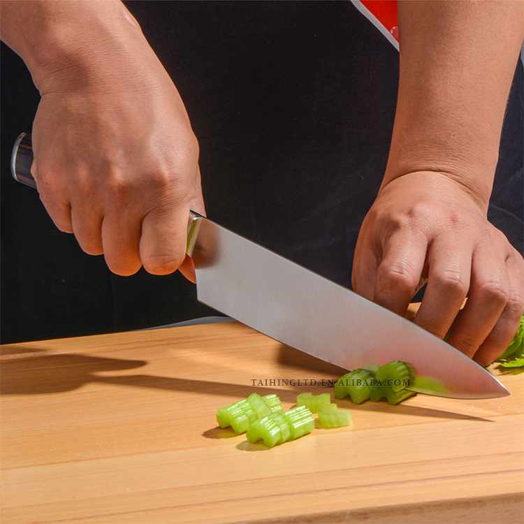 Pro Kitchen 8 Inch Chef Knife With Pakka Wood Handle