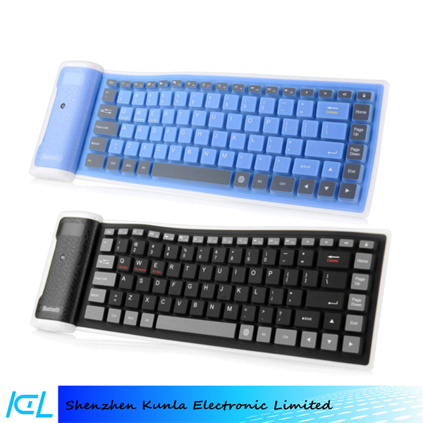 2015 hot sales Flexible wireless soft silicone Bluetooth Keyboard for Ipad mini/air/pro, samsung tablet