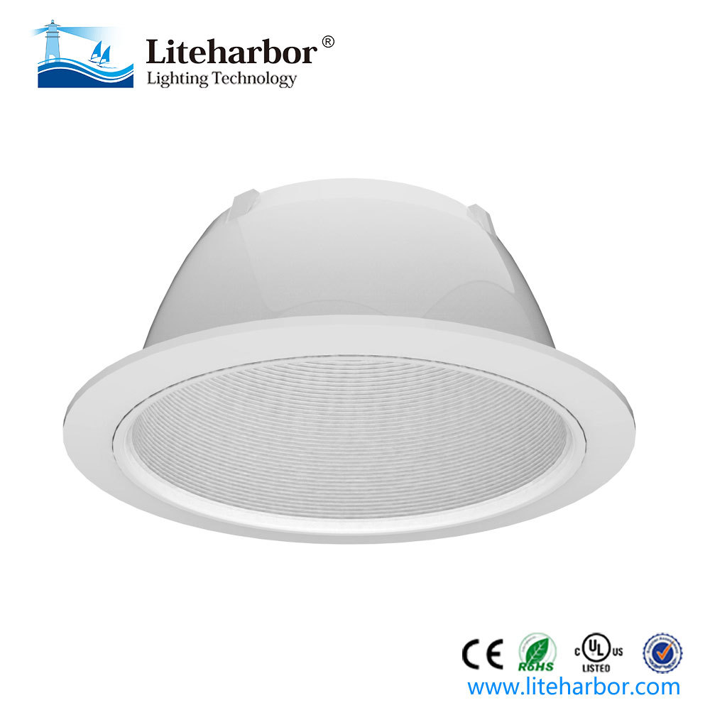 Liteharbor 6 Inch Par38 Recessed Can light Baffle Trim with ETL listed