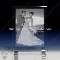 Various shape high quality k9 blank photo crystal image crystal