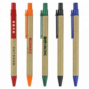 Environmental Friendly Recycled Paper Ball Pens Green Concept Eco Friendly Specialized Ballpoint Pens