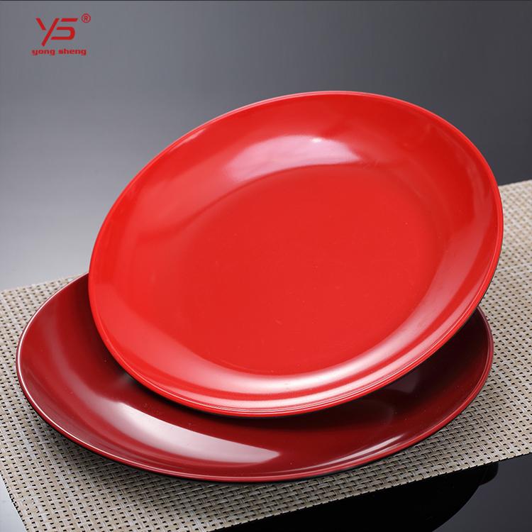 Multi farbe 100% melamin weiß platten quadrat, party platten gefrorenen, mikrowelle 9 zoll mittagessen platten rot