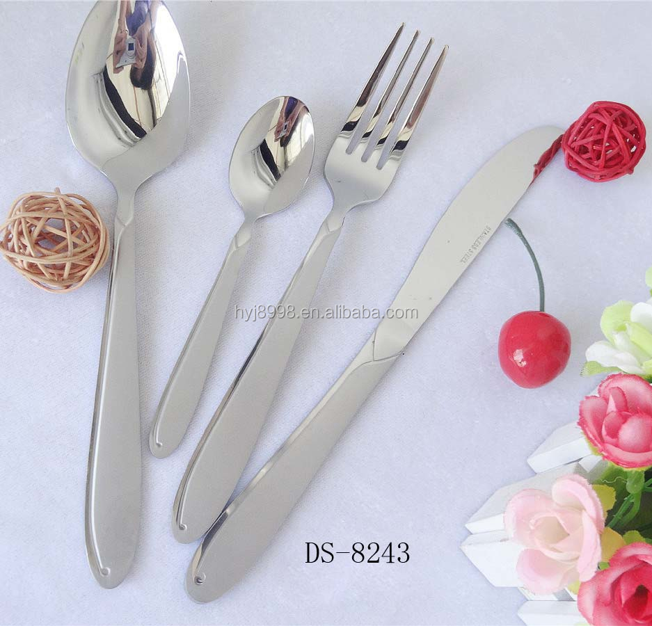 2018 Eco-friendly middle polish stainless steel flatware dinnerware cutlery set for wholesale