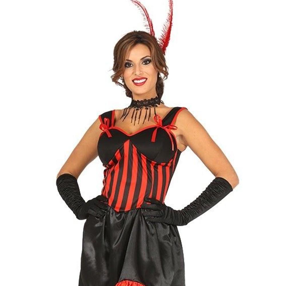 Donna Rosso Selvaggio West Western Showgirl Saloon Ragazza Burlesque Costume Costume