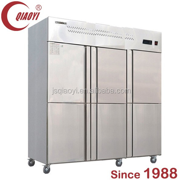 6 doors 1300L stainless steel commercial refrigerator
