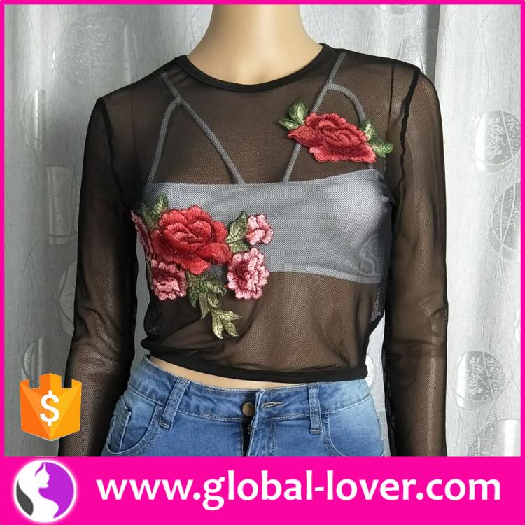 943fcb93a935b2 2017 ladies latest black net blouse designs embroidered blouse transparent