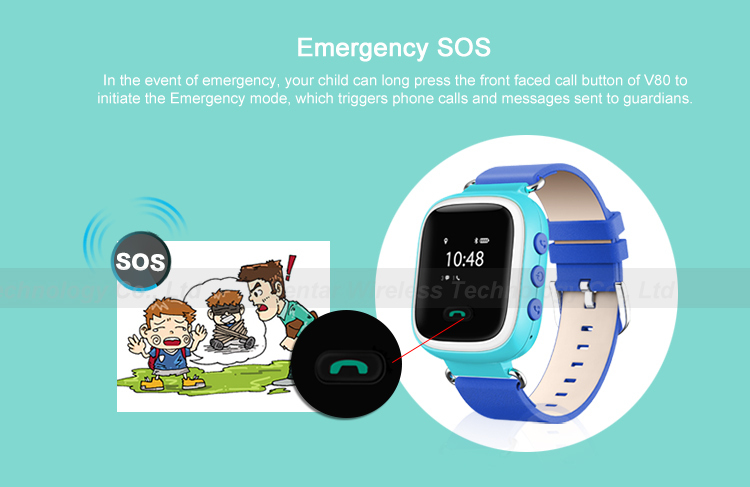 Smart Watch V80 Kid Children Smartwatch Sos Call Location