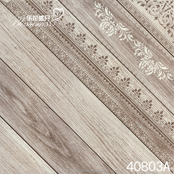 Gray Ceramic Interior Parquet Wooden Floor Tiles With Flower Design 400x400mm