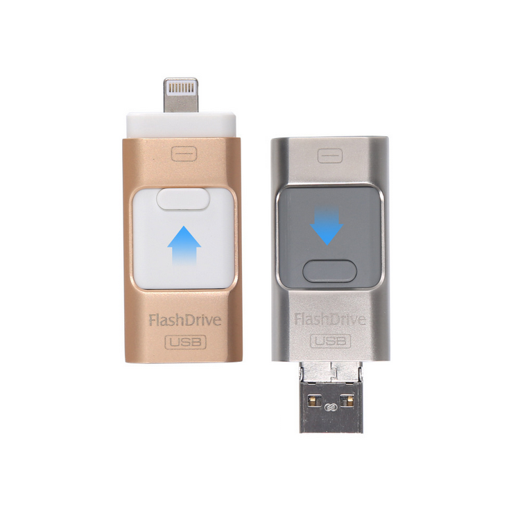 Otg Usb 2.0 Flash Drive 8g 16g 32g 64g 128g For iPhone For iPad External Memory Storage