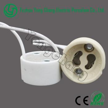 Ceramic Halogen Lamp Holder Gu10 Lampholders For Led Lights Gu10 ...