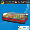 New design used supermarket display refrigerator and freezer showcase (SUNRRY SY-SIS2500)