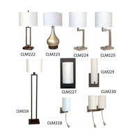 Modern table lamp decorative hotel room light bedside lamp hotel table lamp with USB