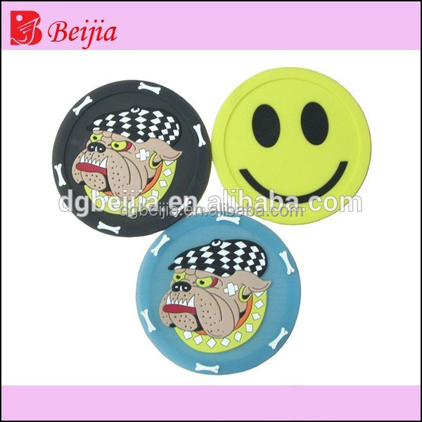 Custom Smile Reflective PVC Keychain/Key Chain For Bag Ornaments