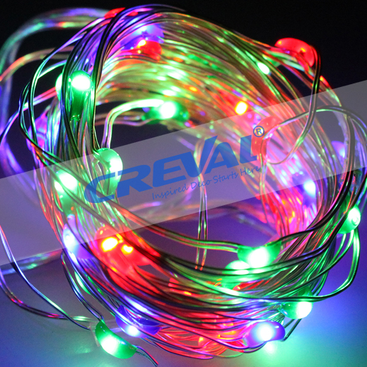 Outdoor Christmas decoration super bright battery operated mini copper led flat string lights