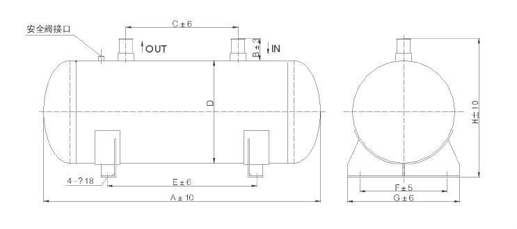 Hstars Prezzo di Fabbrica di alta recipiente a pressione, separatore olio recipiente a pressione, Recipiente a Pressione