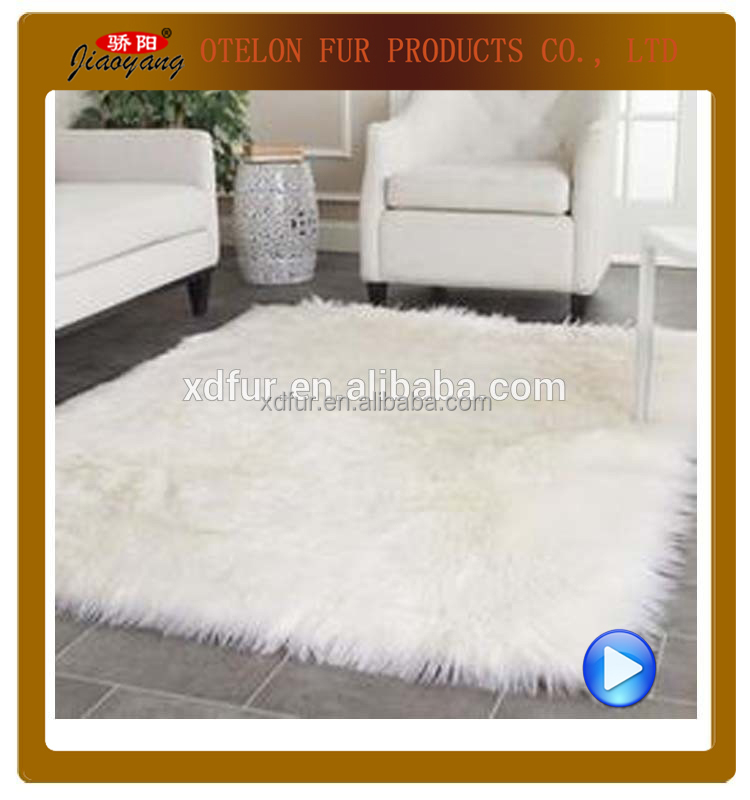 lamb skin square chair seat cushion