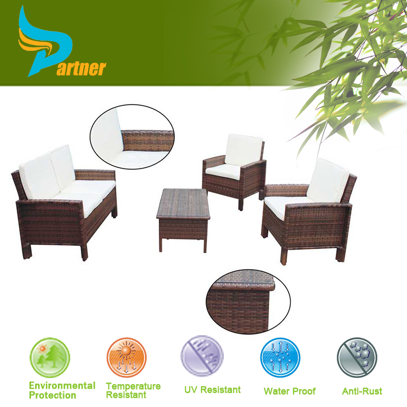 PTN-E-011 Anhui Partner Iron Frame With Powder Coating Tarring House Garden Ridge Outdoor Furniture