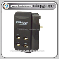 new arrivel ! mobile phone 4 multi port USB wall charger 5V 4.5 A