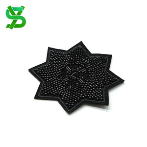 Factory price garment accessory patches embroidery beaded sequin flower applique
