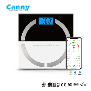 electronic cheapest bluetooth smart glass body fat and water scale with $1 up cost compare with normal fat scale