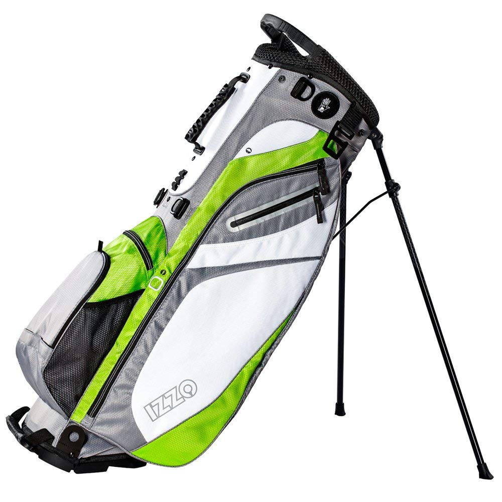 Get Quotations Izzo Lite Stand Golf Bag Black Red Green Or Blue Carry