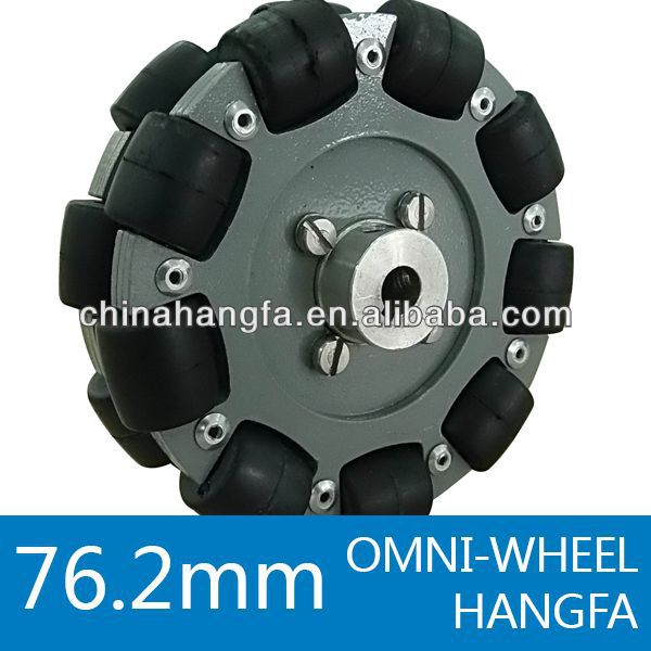 76.2mm double aluminum omni wheel / bearing rollers QL-08