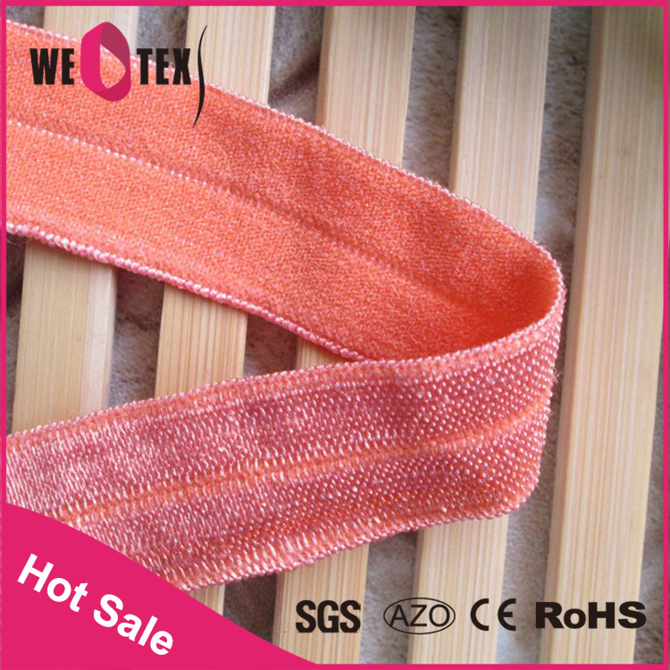 China supplier 1 Inch print fold over elastic