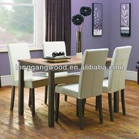 Dinning room set furniture wood leg glass top dining tables and chairs