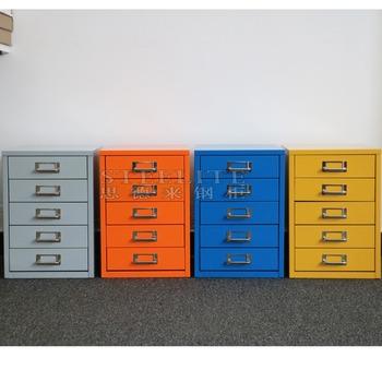 Lots Office Furniture 5 Drawer Metal Storage Cabinet Table Top Drawers