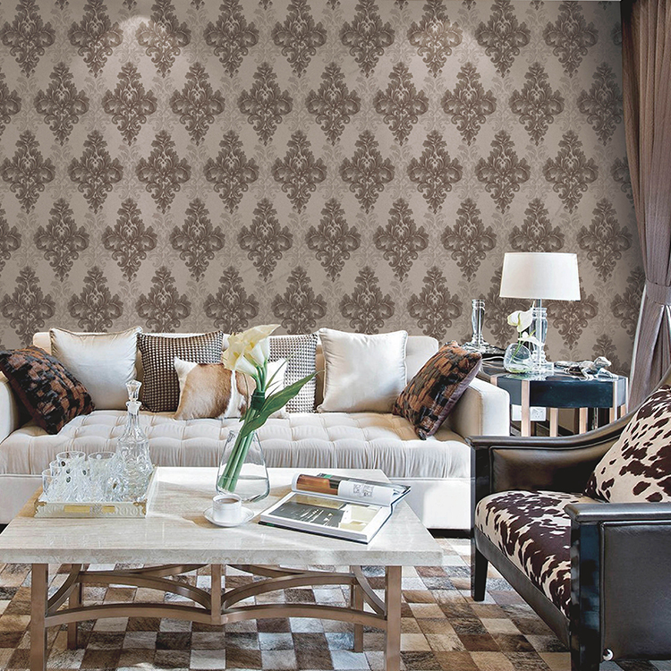 2019 Latest pvc vinyl wallpaper classic damask wallpaper for home decoration