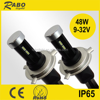 R6 96w 11600lm Top Quality Super Bright Led Headlight Bulb H4 With ...