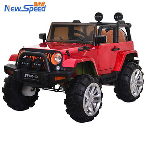 China ride-on toy remote control kids jeep/comfortable leather seat kids jeep cars/simulation jeep 12v electric car for children