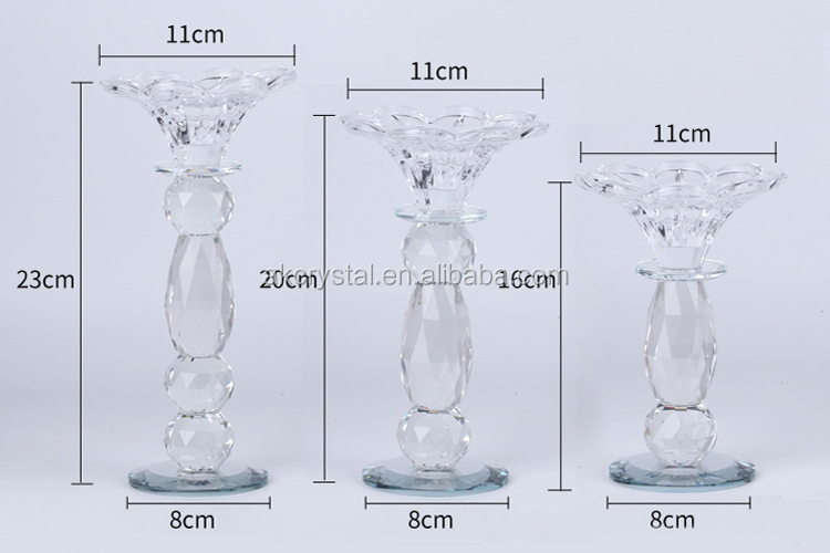 Europe regional feature home deco or wedding decorative tall pillar crystal candle holder