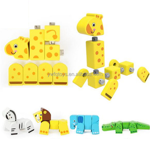 Hot sell children's education colored wood composite blocks