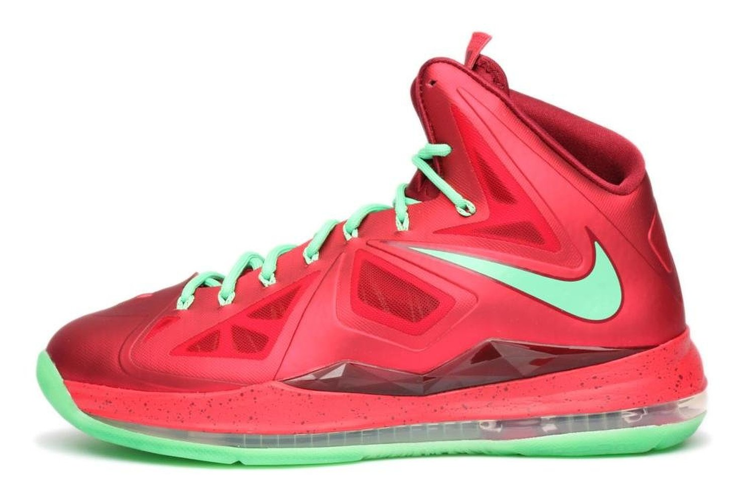 a84144a5ffe71 Get Quotations · Nike Mens Lebron X Christmas Day Red Tremlin 541100-600