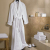 Quality 100% Cotton Velour White Hotel Plush Size Bathrobe